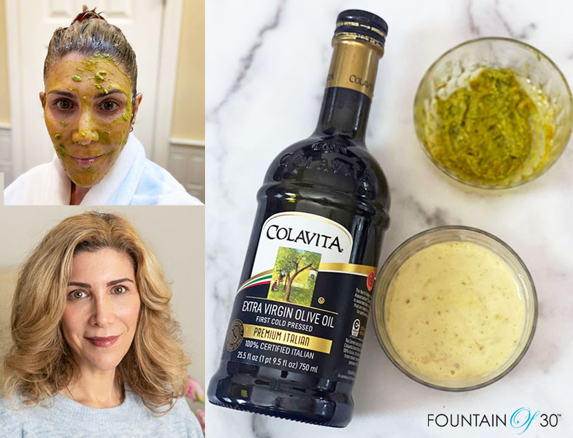 DIY Face mask olive oil fountainof30