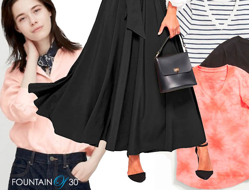 maxi skirt winter to spring outfit fountainof30