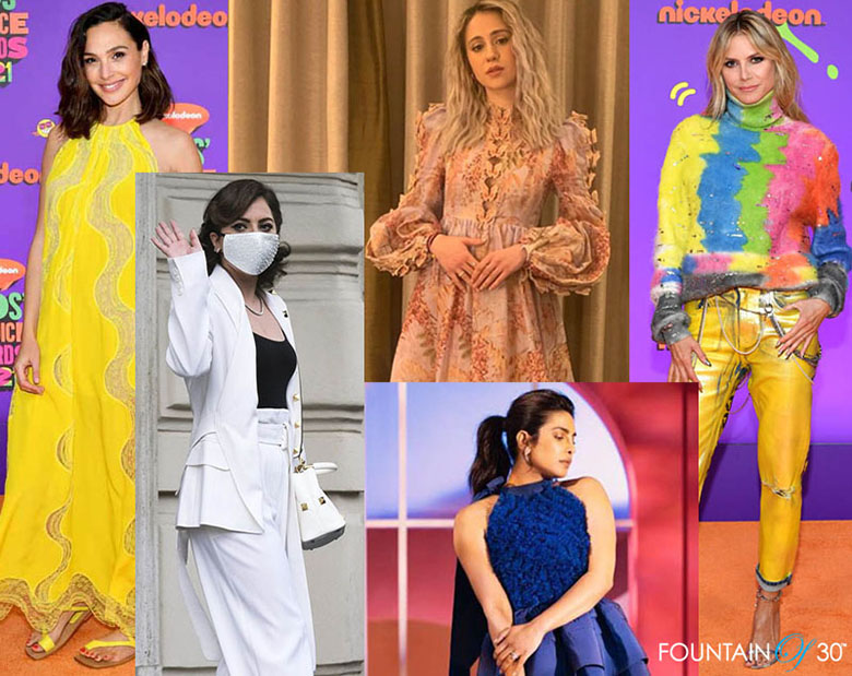 celebrities bold spring outfits