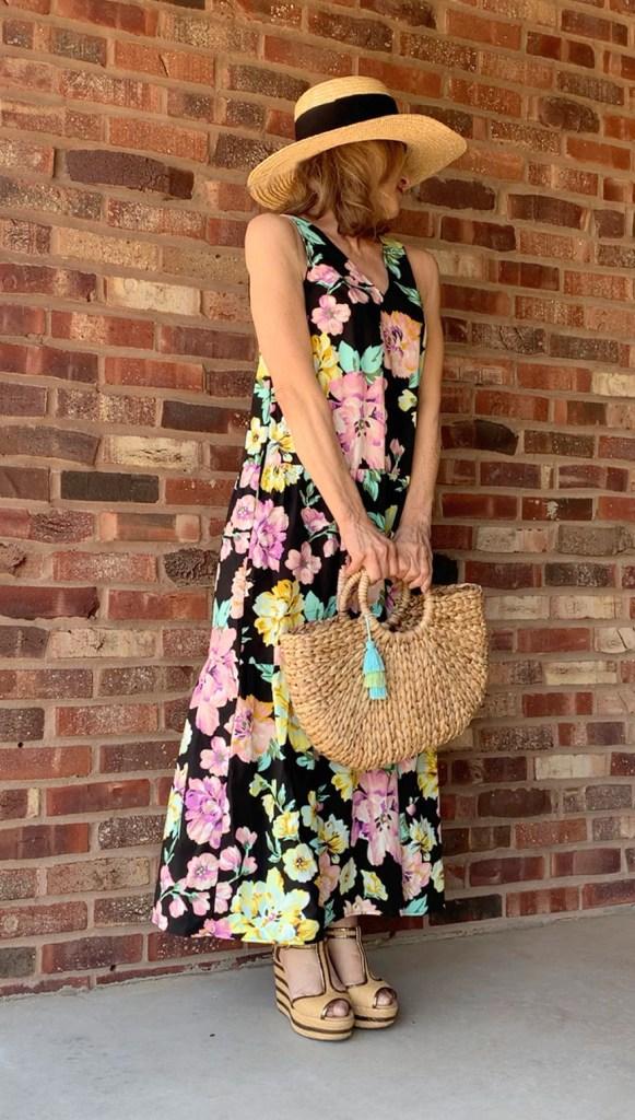 summer dress with sun hat beach bag fountainof30