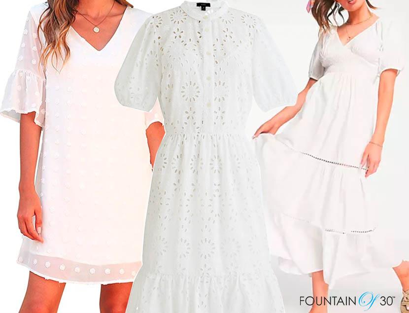 white dresses for less fountainof30