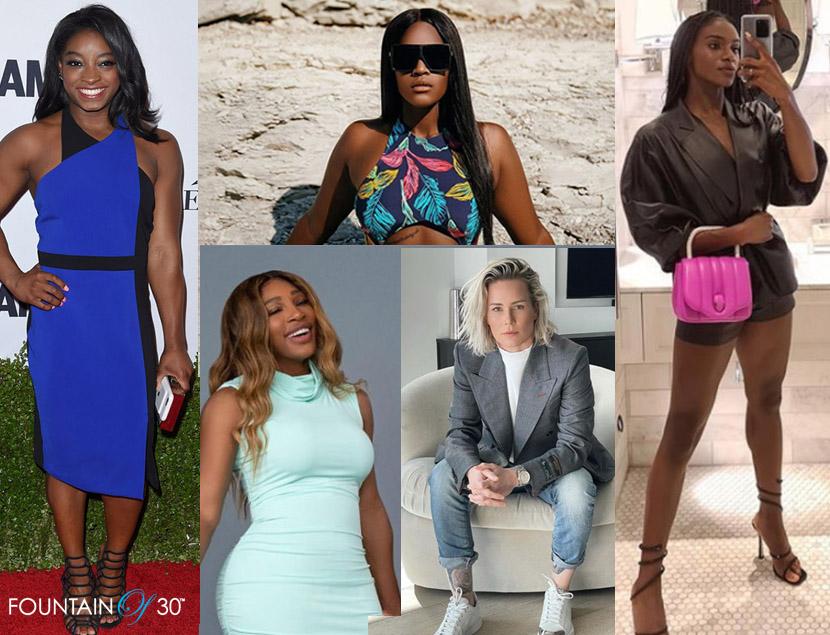 fashionable female athletes 2021 simone biles fountainof30