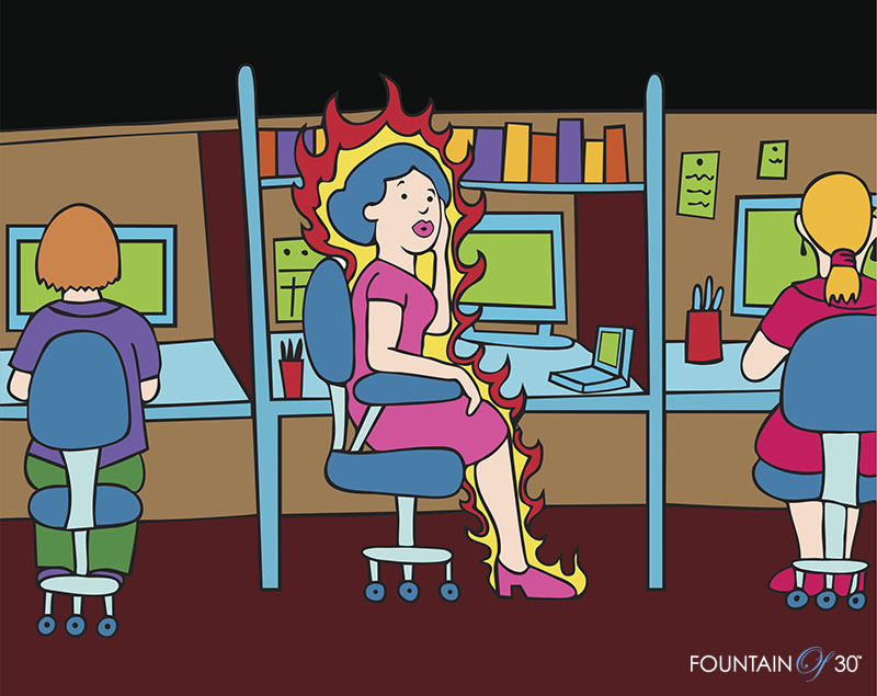 hot flashes menopause podcast