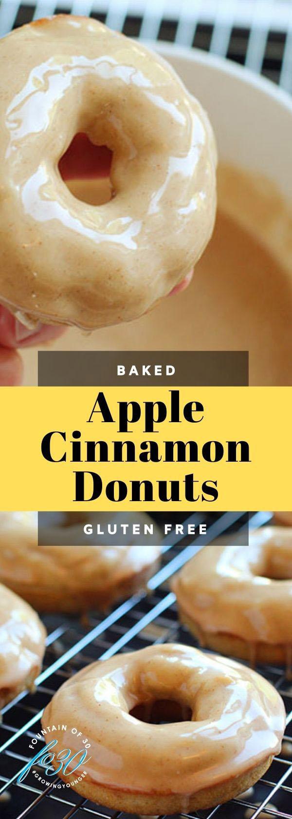 glazed apple baked donuts fountainof30