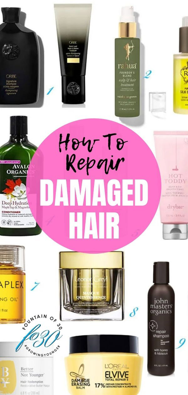 best damaged hair products fountainof30
