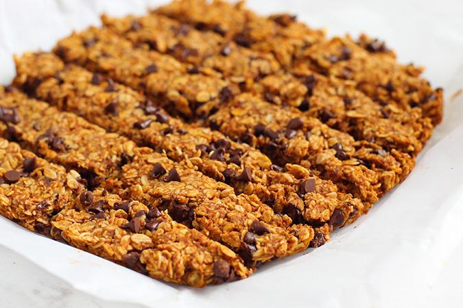 chewy pumpkin chocolate chip granola bars fountqainof30
