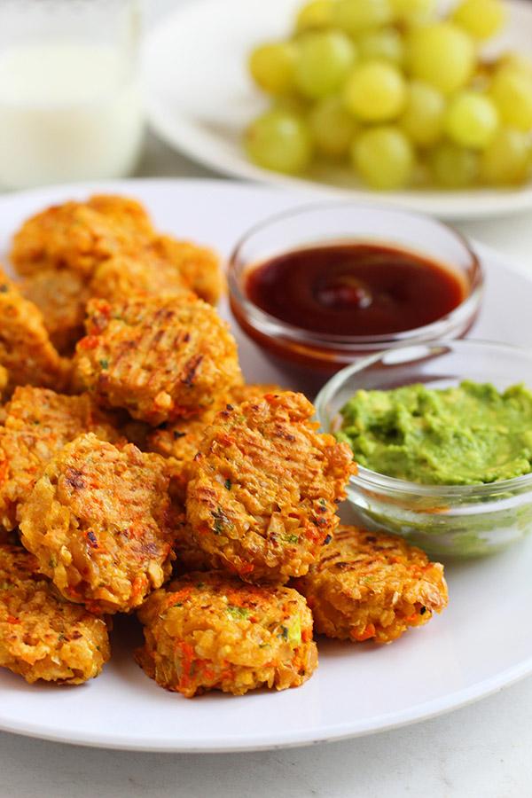 veggie chickpea nuggets gluten free