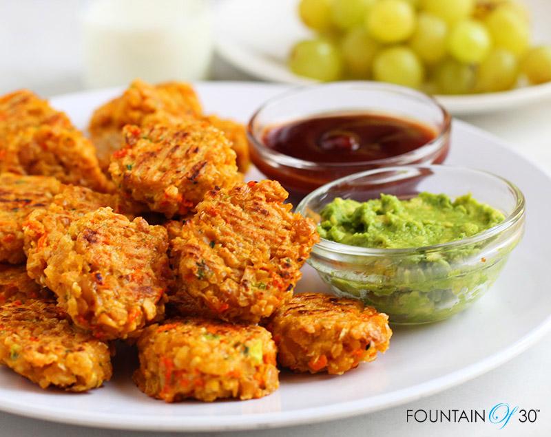 Veggie Loaded Chickpea Nuggets (Gluten Free) fountainof30
