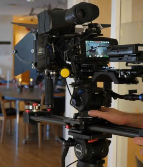 Professionel Videoproduktion med kamera