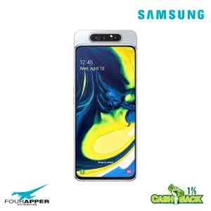 galaxy a80 GHOST WHITE front