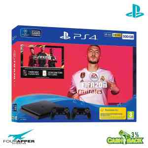 Sony PlayStation 4 (PS4) Slim 500GB + FIFA 20 Ultimate Team + 2 Controller