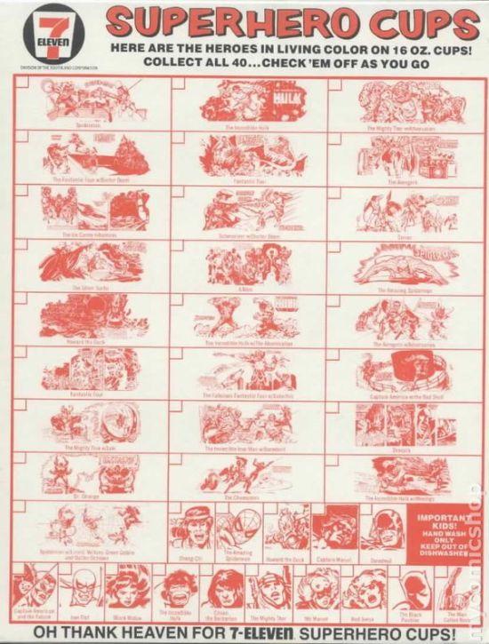 1977 Marvel Slurpee Check List