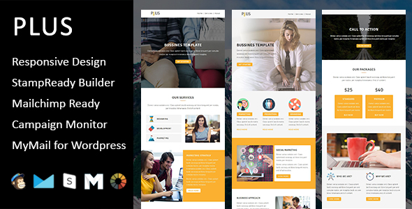Christmas - New Year Responsive Email Template with Mailchimp Editor & Online StampReady Builder Acc - 4