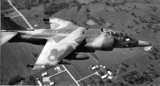 Harrier GR3 XZ966 in Belize, 1981