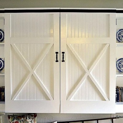 diy barn closet doors, storage locker, mudroom area