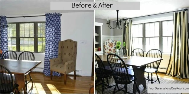 coastal cottage dining room before and after