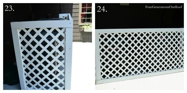 How to build a lattice privacy screen on a budget with my
