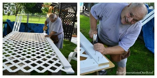 How to build a white vinyl lattice privacy screen {diy tutorial} with my dad