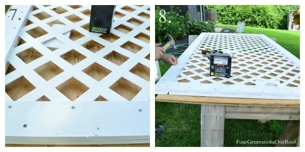 How to build a white vinyl lattice privacy screen {diy tutorial} with my dad, deckfast screws