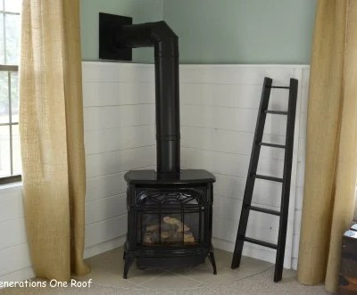 Our new cost effective & energy efficient pellet stove {I need design help!}