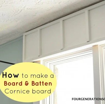 DIY wooden cornice board {board & batten trim}