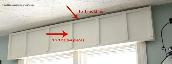Diy Wooden Cornice Board Board Amp Batten Trim Four