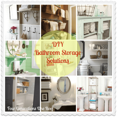 Our diy bathroom {creative storage solutions} + AOL real estate feature