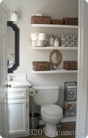 Bathroom storage solutions shelving