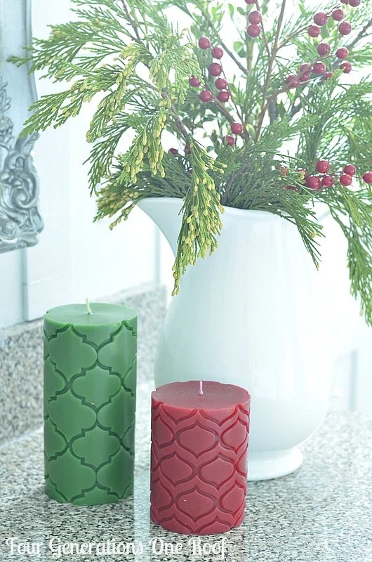 DIY bathroom renovation target candles