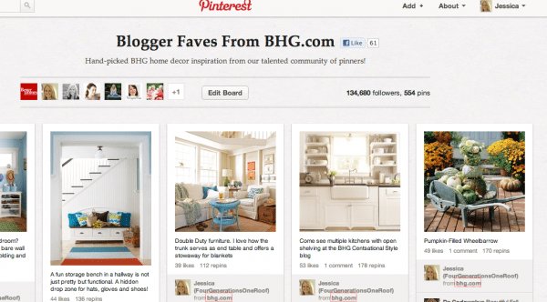 bhg blogger faves pinterest board
