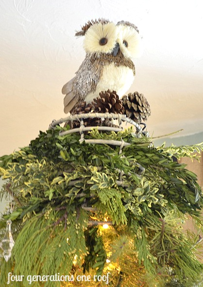 DIY christmas decorations owl tree topper