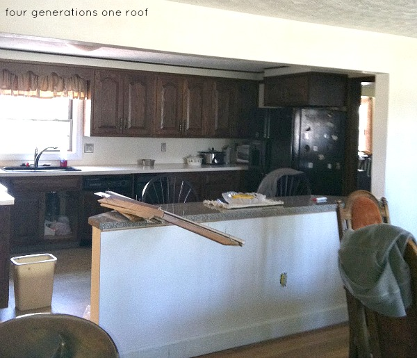 dark outdated kitchen makeover