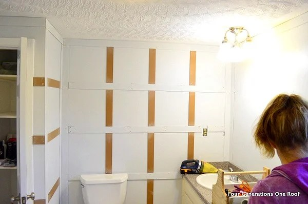 bathroom wainscoting board and batten