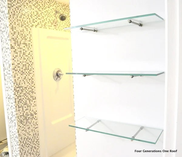 How to hang glass floating shelves t