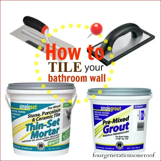tiling supplies needed for a bathroom