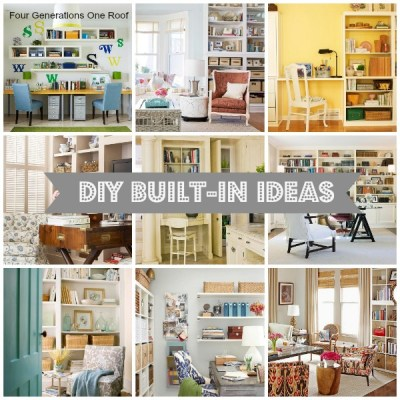 10 DIY built in ideas {decorating inspiration}