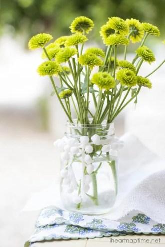 Mason Jar Crafts with fresh flowers