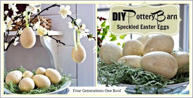 DIY Pottery Barn speckled eggs