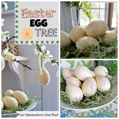 How to decorate Easter eggs {Easter Tree}
