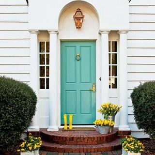 turqoise front door color ideas 2