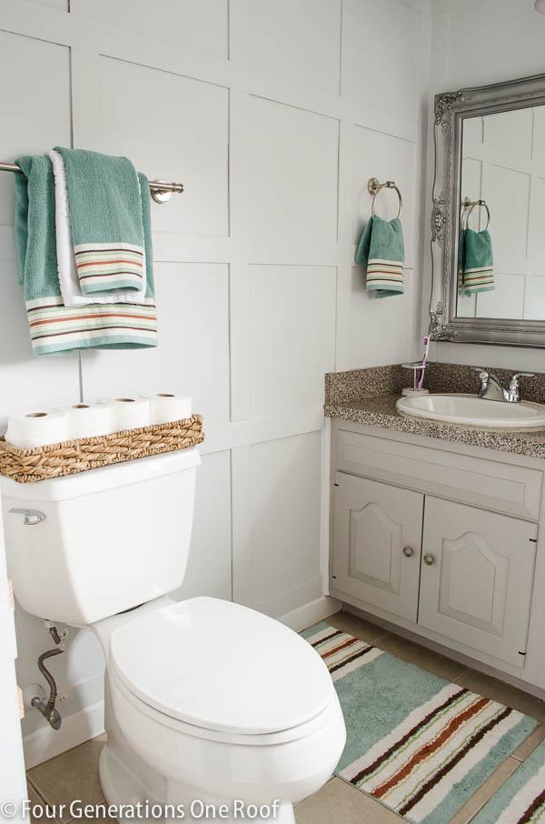 diy wall projects bathroom wainscoting