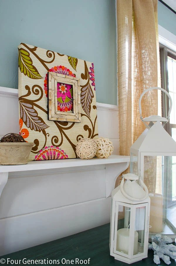 Fabric DIY Wall Art {tutorial} - Four Generations One Roof