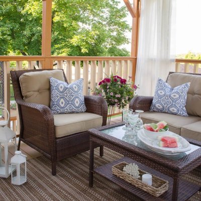 Our summer covered porch {makeover}