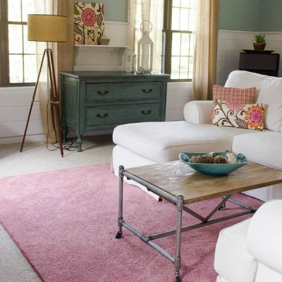 The Pink Rug that is rocking our family room + rug giveaway