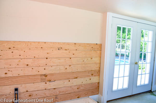 How To Plank Walls Pool House Makeover Progress Four