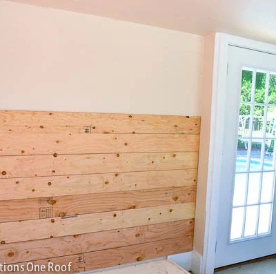 How to plank walls {pool house makeover progress}