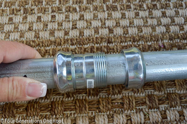 compression coupling over galvanized pipe diy outdoor curtain rod