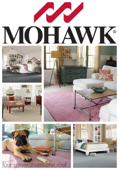 decorating pink rug mohawk