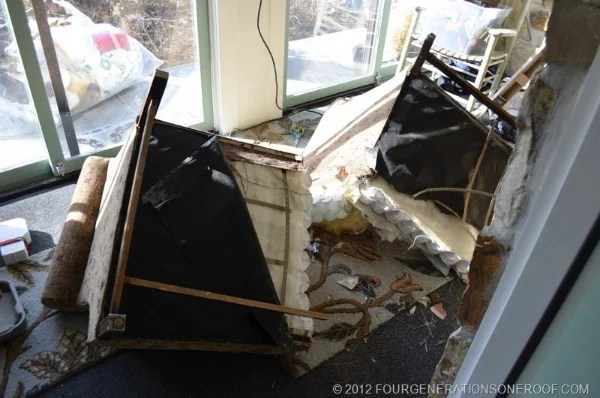 sawzalled couch in half to remove 2 feet from the center of the couch