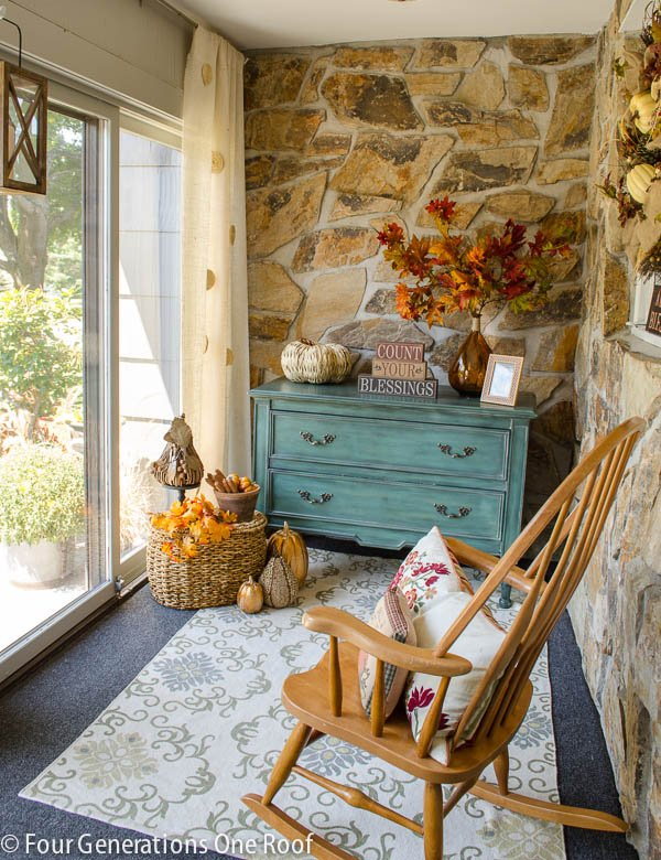 fall decorating mini room makeover